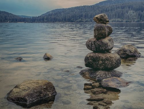 stack of stones for meditation